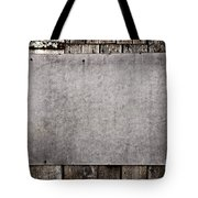 Old Grunge Plywood Board On A Wooden Wall Tote Bag