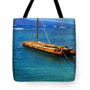 Old Hawaiian Sailboat Tote Bag