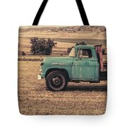 Old Hay Truck In The Field Tote Bag