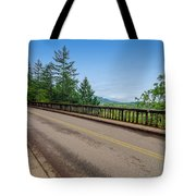 Old Highway And Forest Tote Bag
