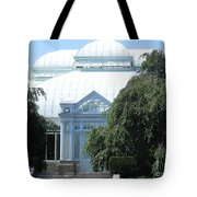 Old Historical Building At Botanical Gardens Of New York Tote Bag