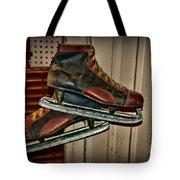 Old Hockey Skates Tote Bag