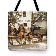 Old Horse Drawn Wagon At Fort Edmonton Park Tote Bag