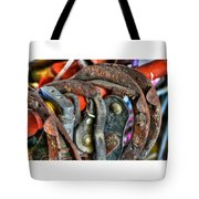 Old Horse Shoes Tote Bag