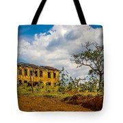 Old House And Cows Tote Bag