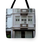 Old House And Funky Orange Car Tote Bag