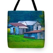 Old House And Harvest Time 2 Tote Bag