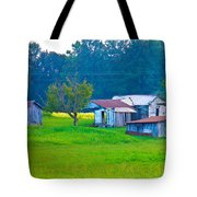 Old House And Harvest Time Tote Bag