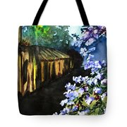Old House And New Flowers Tote Bag