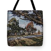 Old House And The Trees Tote Bag
