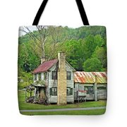 Old House In Penrose Nc Tote Bag