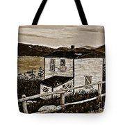 Old House In Sepia Tote Bag