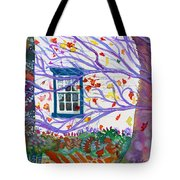 Old House In The Fall Tote Bag