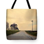 Old House On Country Road Tote Bag