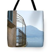 Old House With Lake View Tote Bag