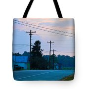 Old Houses And Sunset Tote Bag