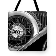 Old Jag In Black And White Tote Bag