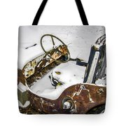 Old Jeep - New Snow Tote Bag