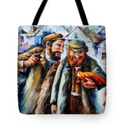 Old Jews And A Rooster  Tote Bag