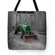 Old Tractor By The Barn Etna New Hampshire Tote Bag