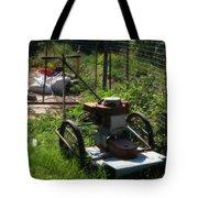 Vintage Lawn Mower Tote Bag