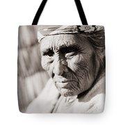 Old Klamath Woman Circa 1923 Tote Bag by Aged Pixel