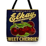 Cherries Antique Food Package Label Tote Bag