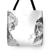 Old Lady With A Lady Tote Bag