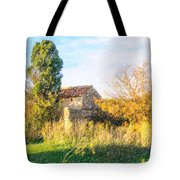 Old Little Stones House In Provence Tote Bag
