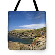 Old Lizard Head And Polpeor Cove Tote Bag