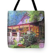 Old Log Cabin Home Tote Bag
