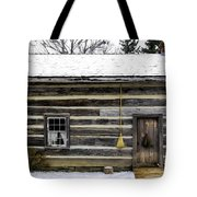 Old Log Home With A Broom Tote Bag