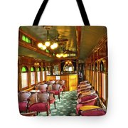 Old Lounge Car From Early Railroading Days Tote Bag