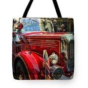 Old Mack Firetruck Tote Bag