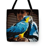 Old Man And His Bird Tote Bag