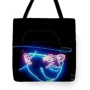 Old Man In Neon 2 Tote Bag