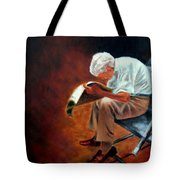 Old Man Reading Tote Bag