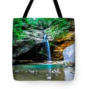 Old Mans Cave Lower Falls Tote Bag