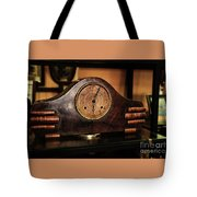 Old Mantelpiece Clock Tote Bag