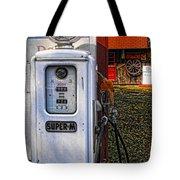 Old Marathon Gas Pump Tote Bag