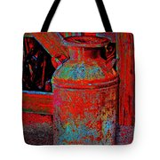 Old Milk Pail Pop Art Tote Bag