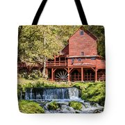 Old Mill And Waterfall Tote Bag