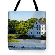 Old Mill On Grand River In Caledonia In Ontario Tote Bag