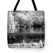 Old Mill Pond In Infrared Tote Bag