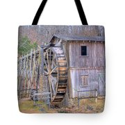 Old Mill Water Wheel And Sluce Tote Bag