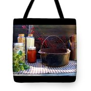 Old Miners Outdoor Kitchen Table Still Life Tote Bag