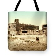 Old Mission Church At Acoma Tote Bag