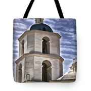 Old Mission San Luis Rey Tower - California Tote Bag