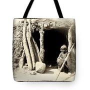 Old Navajo At His Hogan Tote Bag