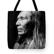 Old Nez Perce Man Circa 1910 Tote Bag by Aged Pixel